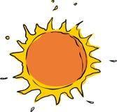 Scribble of the Sun Stock Photos