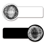 Scribble tag Stock Images