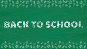 Scribble text on green school blackboard background. stock video footage