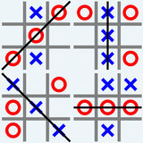 Scribble tic tac toe Stock Photo