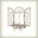 Scribble vector window Royalty Free Stock Photo