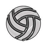 Scribble volley ball cartoon Stock Photos