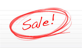Scribble word sale on a notepad paper Stock Photo