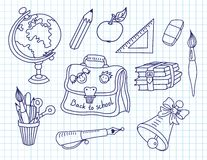 Scribble in a writing-books set Royalty Free Stock Photos