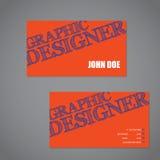 Scribbled визитная карточка текста в оранжевом голубом и белом гребне цвета иллюстрация вектора