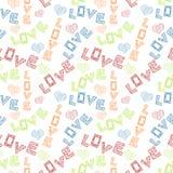 Scribbled влюбленность формулирует безшовную предпосылку Стоковые Фото