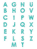 Scribbled alphabet Stock Photography