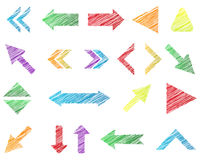 Scribbled Arrows Stock Image