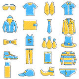 Scribbled boys related icon set Stock Photo