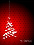 Scribbled christmas tree on a red background Royalty Free Stock Photography