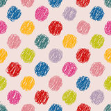 Scribbled dots color pattern background Royalty Free Stock Photo