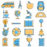 Scribbled Education icon set Stock Photos