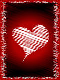 Scribbled heart. With a border Stock Images