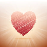 Scribbled Heart Royalty Free Stock Images