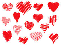 Scribbled Hearts Stock Photos
