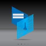 Scribbled login screen in blue Stock Photo