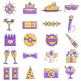 Scribbled Party icon set Royalty Free Stock Photos