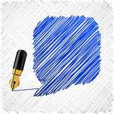 Scribbled speech shape. Stock Photography