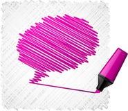Scribbled speech shape. Stock Image
