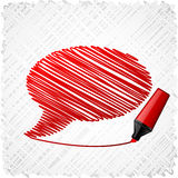 Scribbled speech shape. Royalty Free Stock Photo