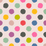 Scribbled spots color pattern background Stock Photos