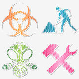 Scribbled symbols Stock Photography