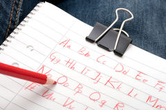 scribbles алфавита Стоковые Изображения RF