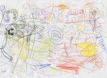 Scribbles das crianças Imagens de Stock Royalty Free