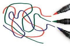Scribbles do RGB Imagem de Stock