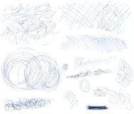 Scribbles 1 royalty free stock images