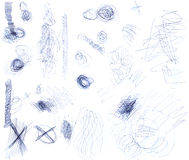 Scribbles 2 Royalty Free Stock Photos