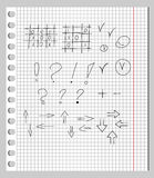 Scribbles in a Notebook Stock Images
