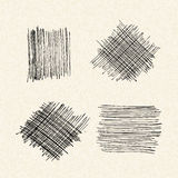 Scribbles on a sheet of lined paper Royalty Free Stock Image