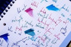 scribbling Fotografie Stock