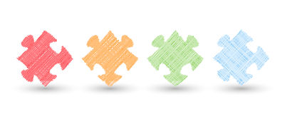 Scrible puzzle Stock Images