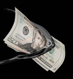 Scricchiolio dei soldi Immagine Stock