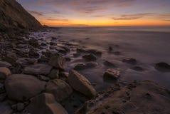 Scripps Coastal Reserve sunset slow shutter stock images