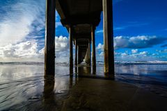 Scripps cloudy sky Royalty Free Stock Image