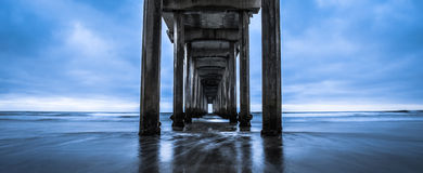 Scripps Pier - California. This is an unedited picture of the Scripps Pier in La Jolla, California Stock Image