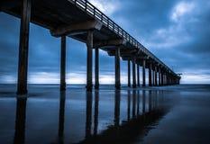 Scripps Pier - California. This is an unedited picture of the Scripps Pier in La Jolla, California Stock Photos