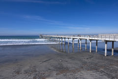 Scripps pier in California Royalty Free Stock Photo