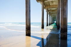 Scripps Pier. In La Jolla, California Stock Images