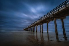 Scripps Pier in La Jolla San Diego. royalty free stock images