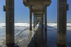 Scripps Pier Salk Institute UCSD San Diego Royalty Free Stock Images