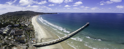 Scripps Pier Panoramic Photographie stock