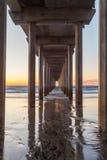 Scripps pir i La Jolla San Diego Arkivbilder