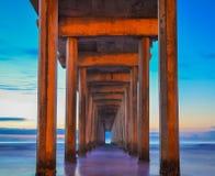 Scripps pir - Kalifornien Arkivbild