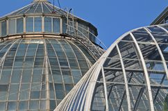 Scripps Whitcomb Conservatory at Belle Isle Park. Belle Isle conservatory in Detroit Stock Photography