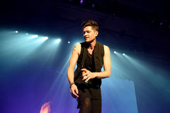 The Script (band) performs at St. Jordi Club stage Royalty Free Stock Photography
