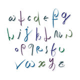 Script font vector, vector alphabet letters. Stock Photos